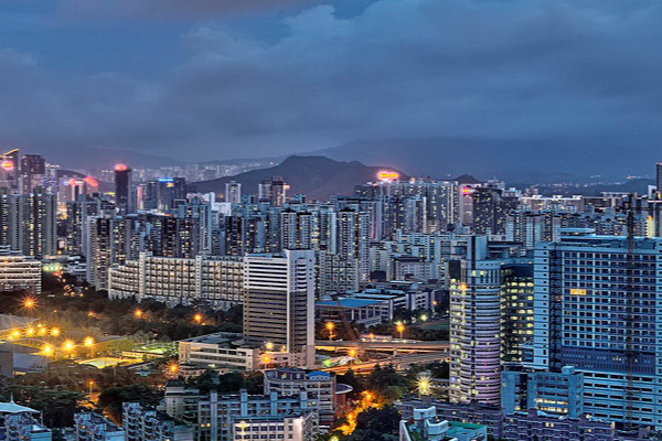 Vista da Cidade de Shenzhen na China