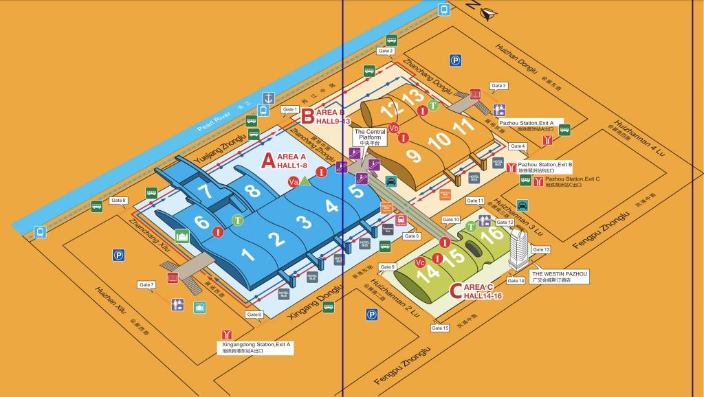 mapa pazhou complex Canton Fair