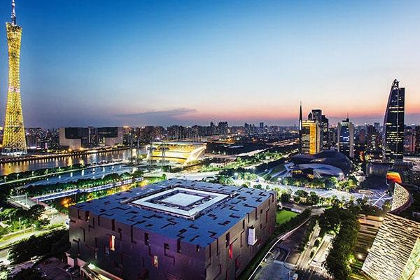 Vista de Guangzhou com a Canton Tower